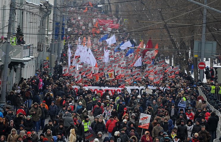 Opposition march in Moscow