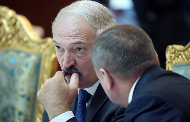 Alexander Lukashenko at the CSTO summit in Dushanbe