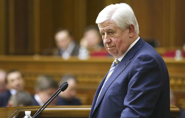Ukraine Prosecutor General Viktor Shokin