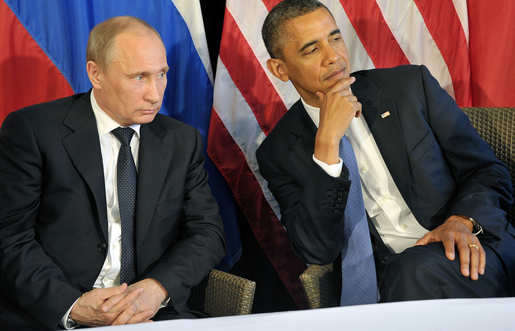 Presidents of Russia and the United States Vladimir Putin and Barack Obama