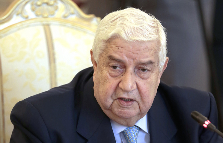Syrian Foreign Minister Walid al-Mualem