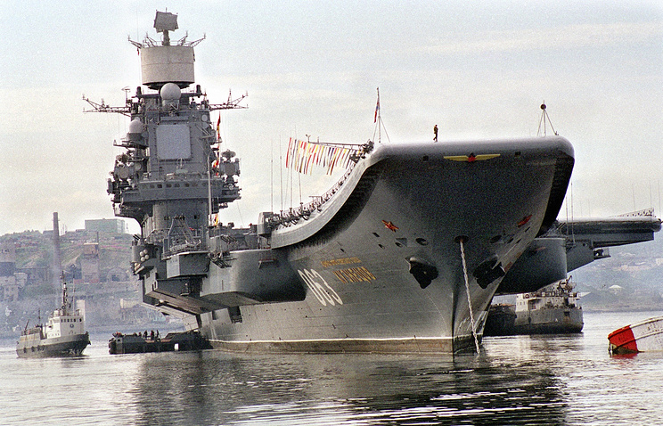 The Admiral Kuznetsov aircraft carrier