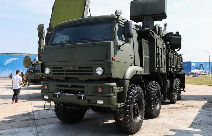 Pantsir-S1 air defense missile-gun complex vehicle