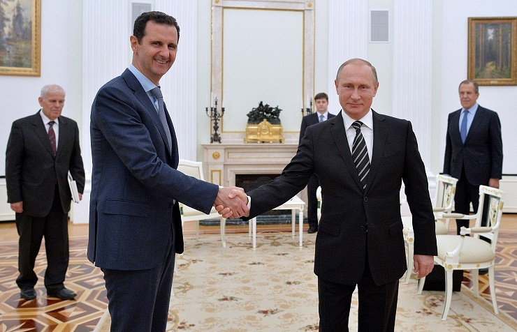 Syrian president Bashar Assad (left) and Russian president Vladimir Putin