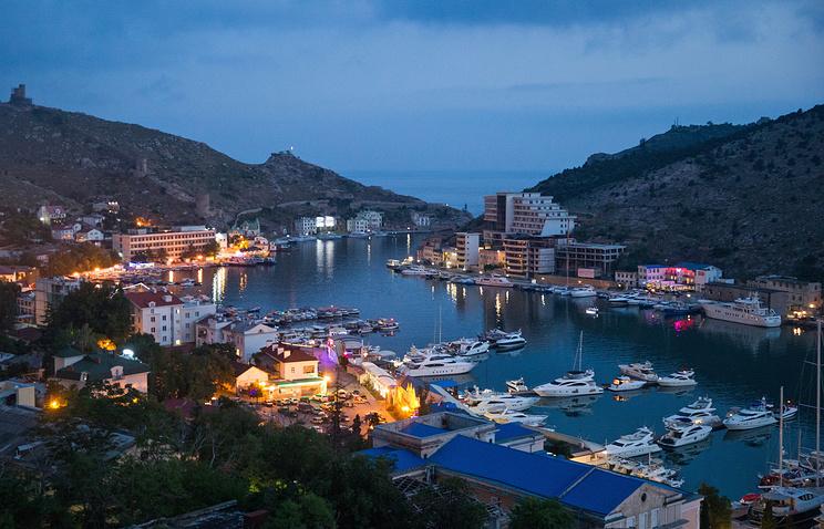 View of the town of Balaklava near Sevastopol, Crimea