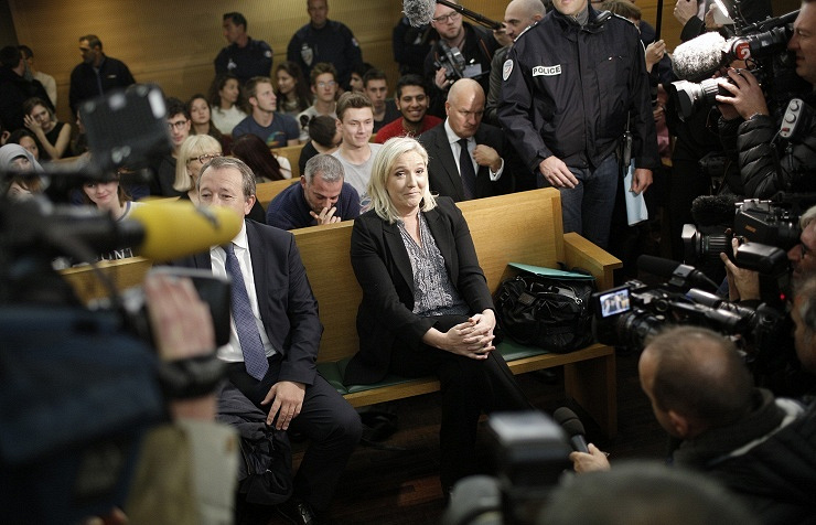 The leader of France's National Front party, Marine Le Pen