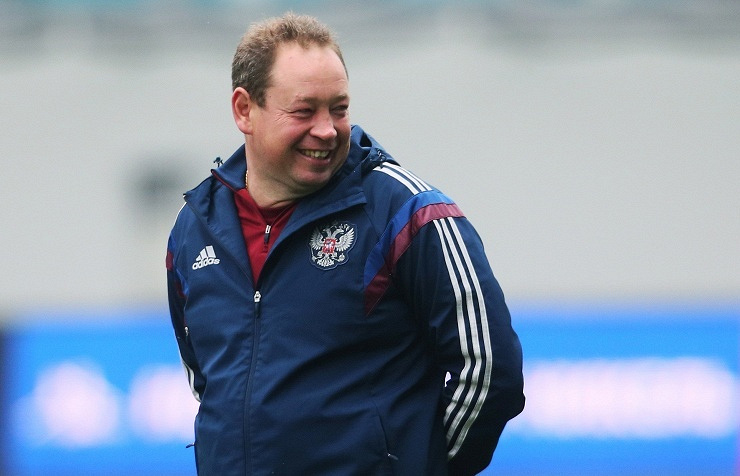 Russian national football team head coach Leonid Slutsky
