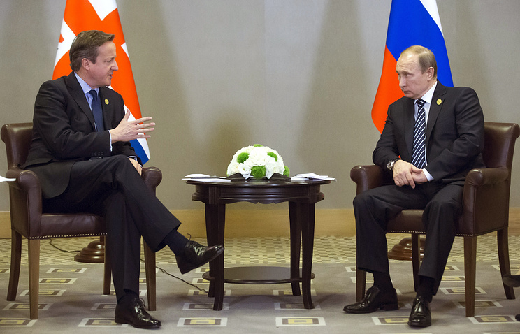 UK Prime Minister David Cameron and Russian President Vladimir Putin