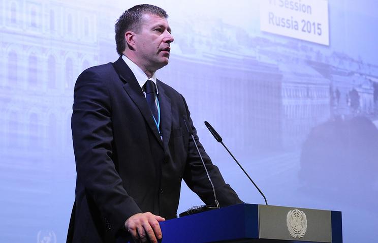 Russia's Justice Minister Alexander Konovalov