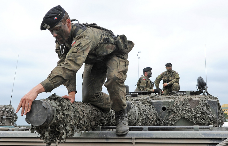 NATO exercise on a training range in Poland