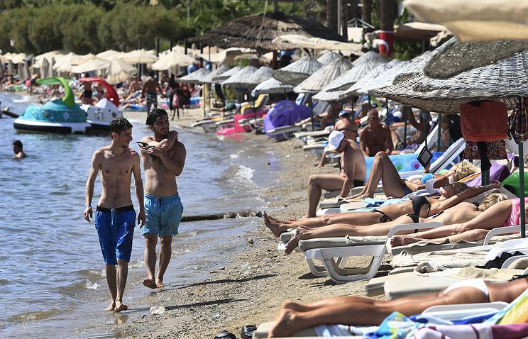 Tourists in Bodrum, Turkey