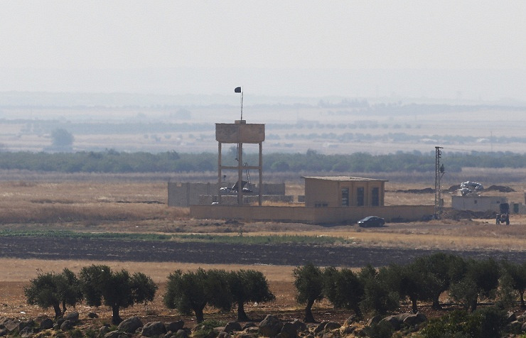 Turkish side of the border with Syria