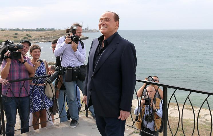 Italy's former Prime Minister Silvio Berlusconi in Crimea