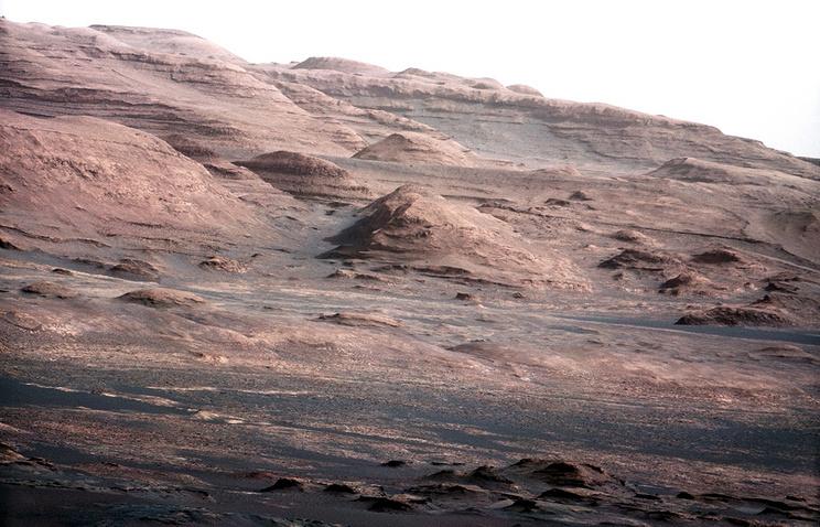 Base of Mount Sharp on planet Mars