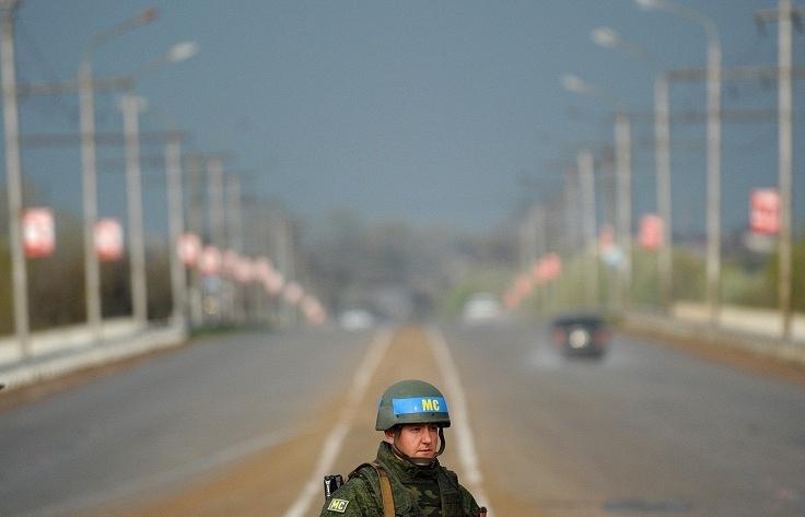 A Russian peacekeeper in Transdniestria