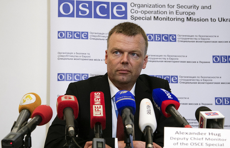 OSCE Deputy Chief Monitor Alexander Hug