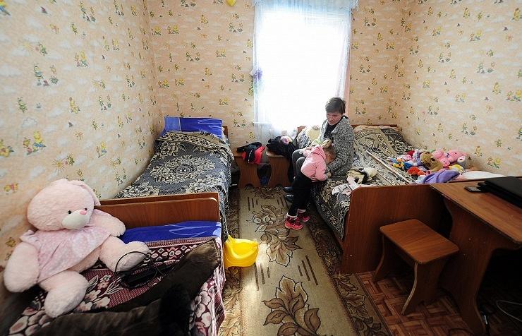 Ukrainian refugee camp in Russia's Primorye