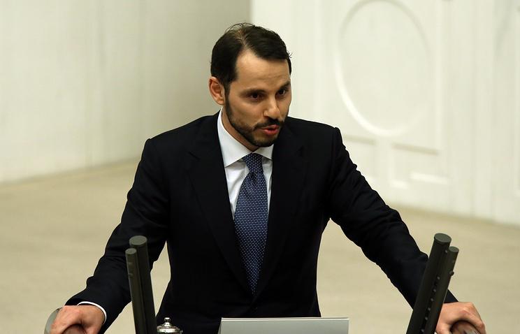 Turkey's minister of energy and natural resources Berat Albayrak