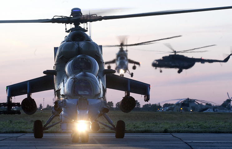 Mi-24 helicopters