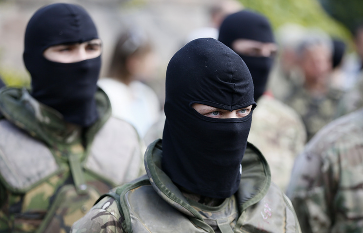 Members of Azov battalion