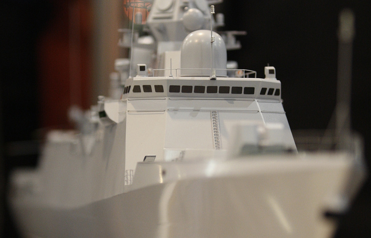 A model of a warship seen at an exhibition (archive)