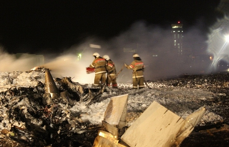 Boeing 737-500 crash site in Kazan, 2013
