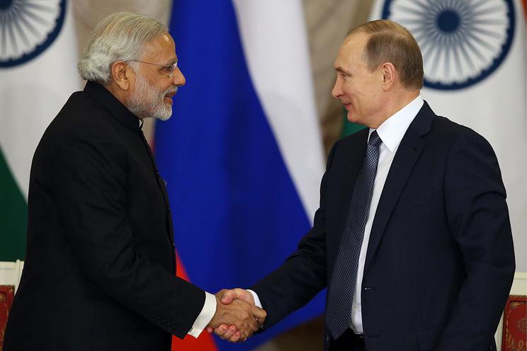 India's Prime Minister Narendra Modi and Russia's President Vladimir Putin