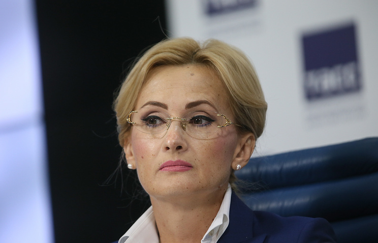 Irina Yarovaya, chairperson of Russia's State Duma security and anti-corruption committee