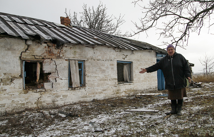 A damaged building in Kominternovo (archive)
