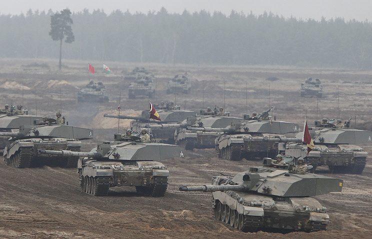 Military exercise in Poland