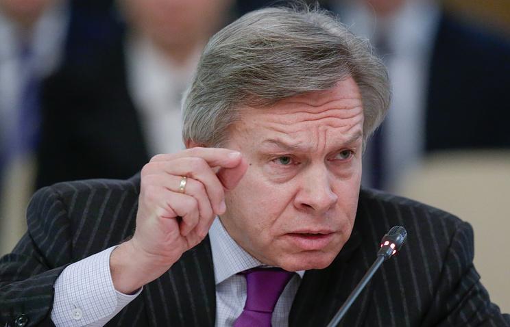Russia's State Duma's International Affairs Committee chairman Alexey Pushkov