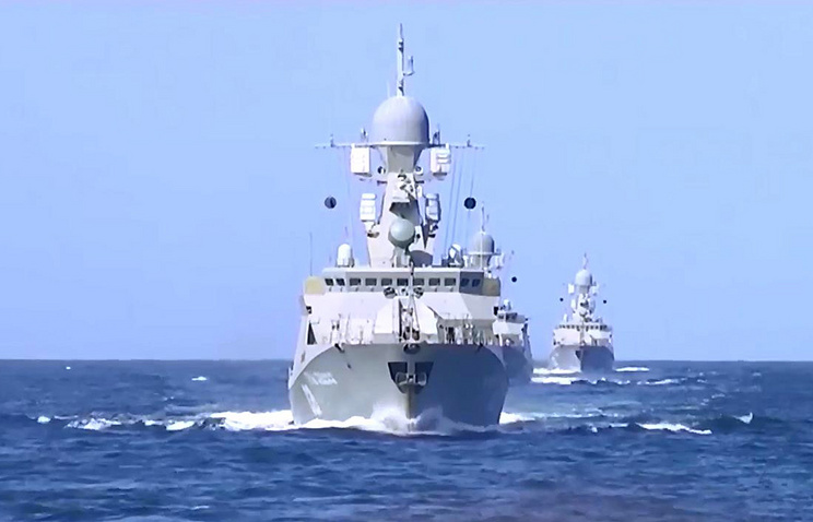 Russian Caspian Flotilla warships