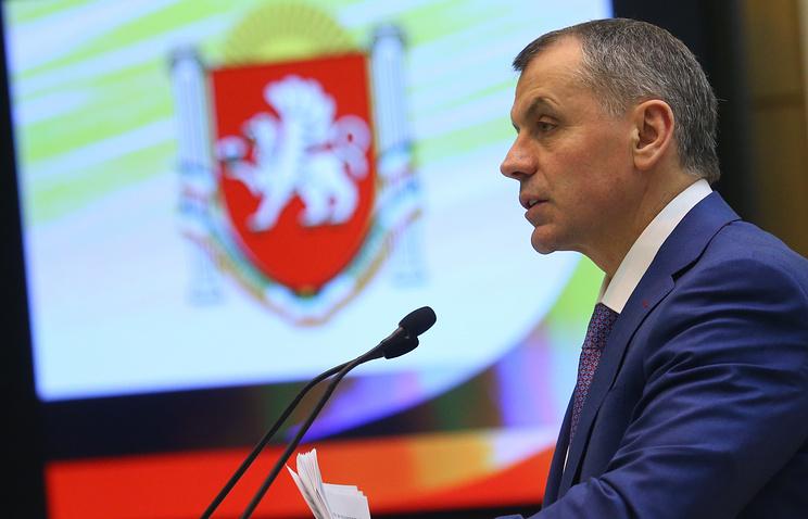 The speaker of Crimea's State Council, Vladimir Konstantinov