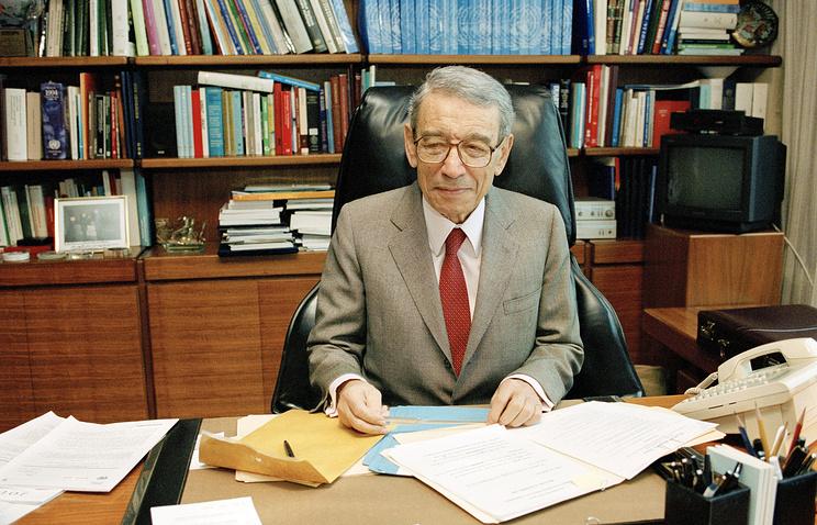 Former UN Secretary General Boutros Boutros-Ghali