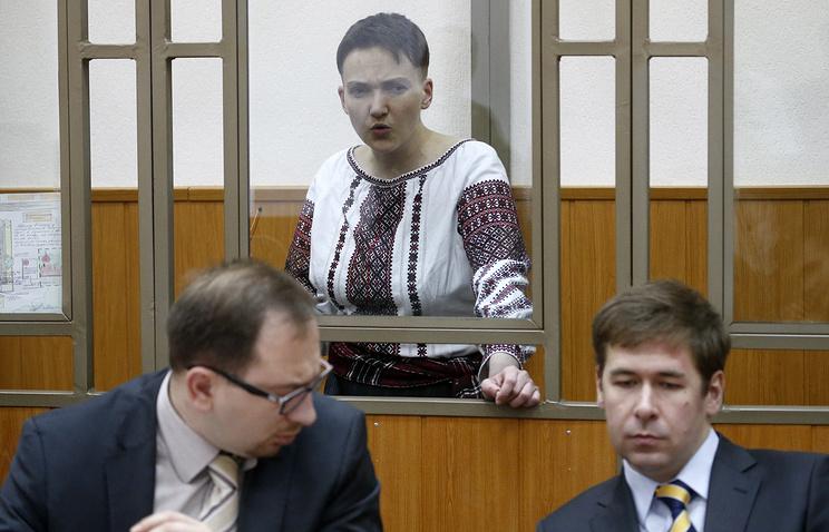 Nadezhda Savchenko (background)