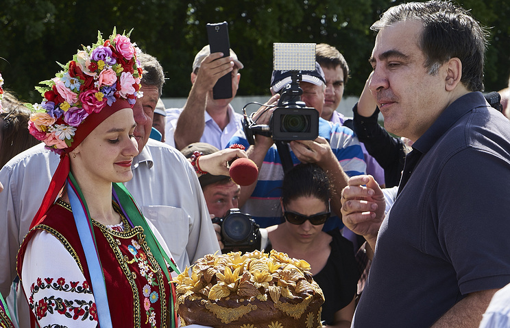 Governor of Ukraine's Odessa region Mikhail Saakashvili