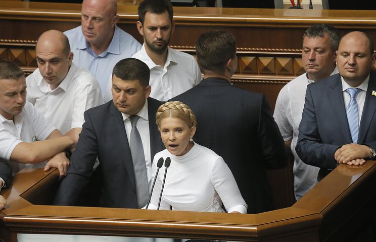 Leader of the Batkivshchyna (Fatherland) faction Yuliya Tymoshenko