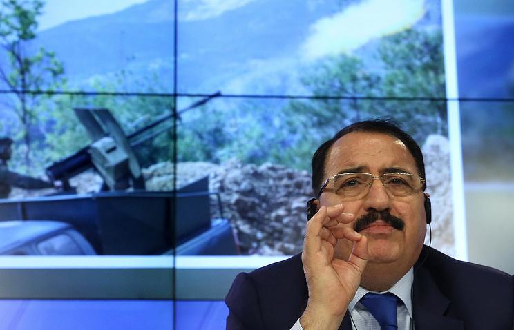 Syria's Ambassador to Russia Riyad Haddad