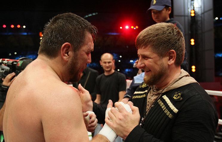 Ruslan Chagayev and Ramzan Kadyrov