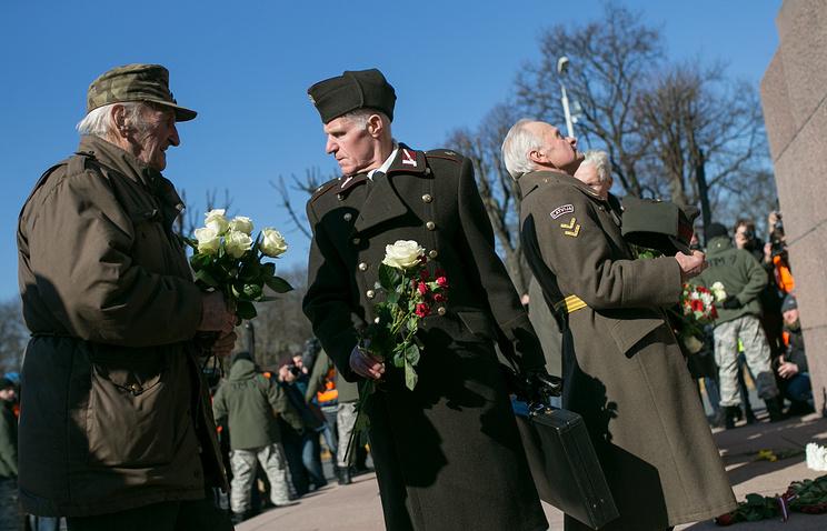 Waffen SS veterans in Latvia's capital city Riga (archive)