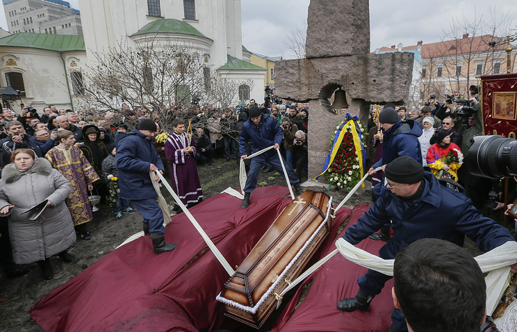 Funeral ceremony for Ukrainian journalist Georgy Gongadze in Kiev
