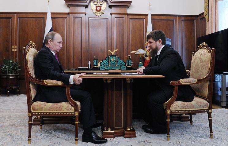 Russian President Vladimir Putin and Chechnya Head Ramzan Kadyrov