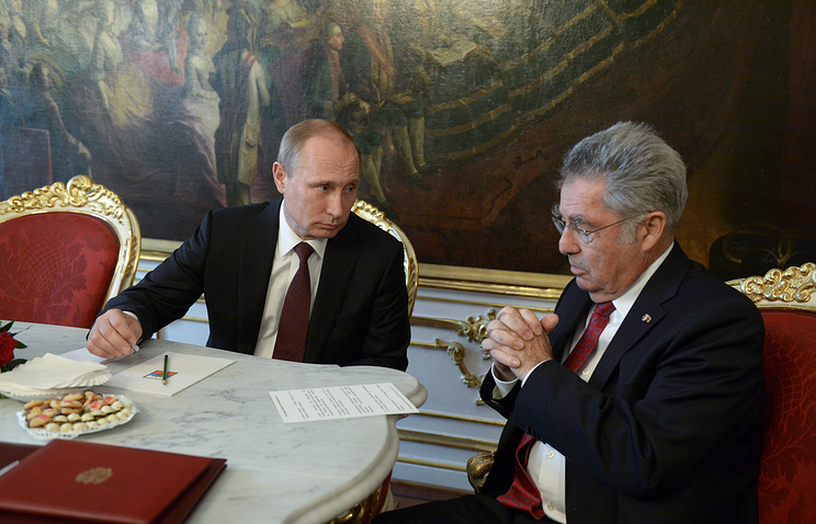 Russian and Austrian Presidents, Vladimir Putin and Heinz Fischer