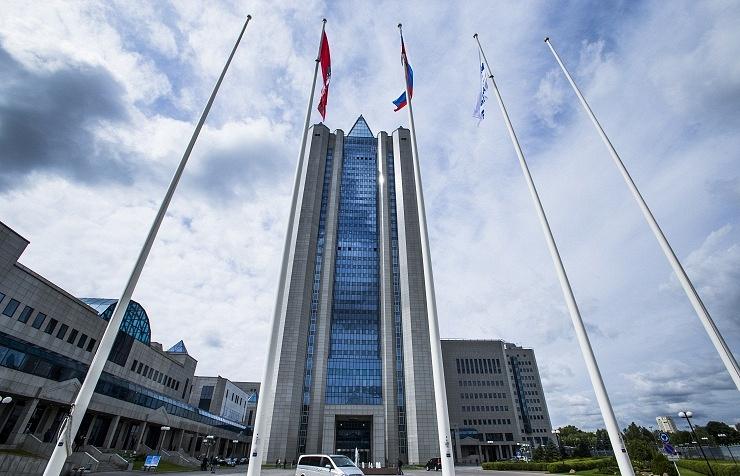 Headquarters of Russia's state-run natural gas giant Gazprom