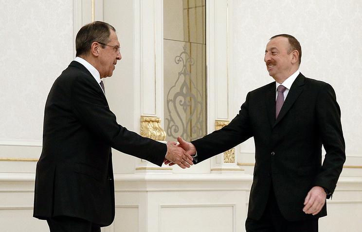 Sergey Lavrov and Ilham Aliyev