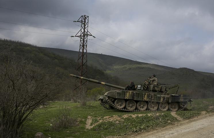 Armenian soldiers patroling in Nagorno-Karabakh