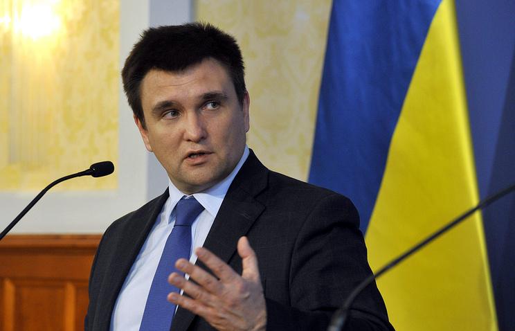 Ukraine's Foreign Minister Pavlo Klimkin