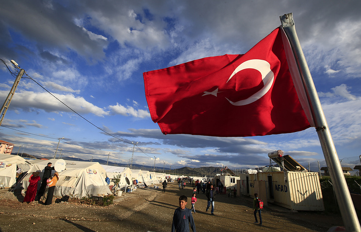 Refugee camp for Syrian refugees in Turkey
