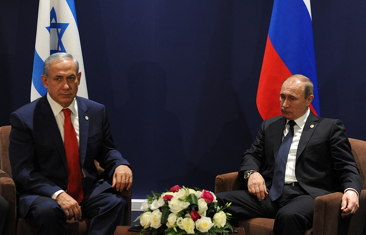 Israeli Prime Minister Benjamin Netanyahu and Russian President Vladimir Putin