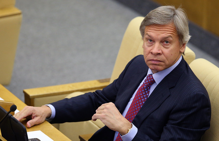 Alexei Pushkov, the head of the Russian State Duma Committee for Foreign Affairs
